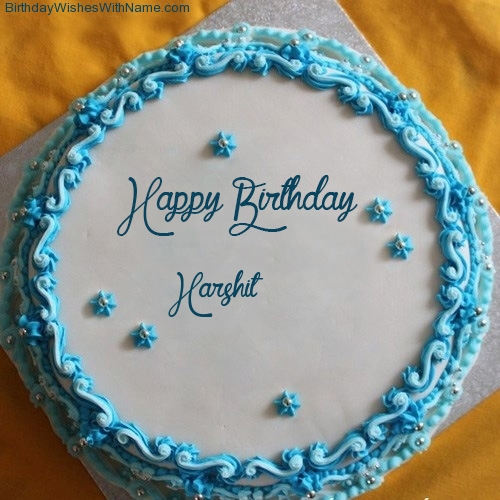 Cake Images With Name Harshit : Happy Birthday Chocolate Cake For Harshit