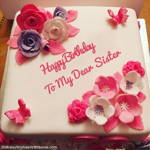 Tremendous To My Dear Sister Happy Birthday Birthday Wishes For To My Dear Personalised Birthday Cards Paralily Jamesorg