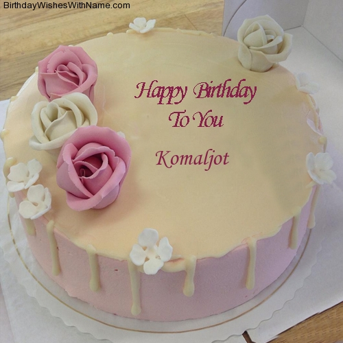 Happy Birthday Komal Cake Hd Images Best Hd Wallpaper