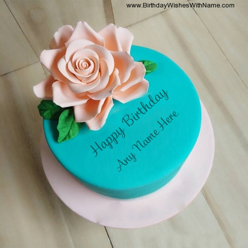 Rose Birthday Cake With Name