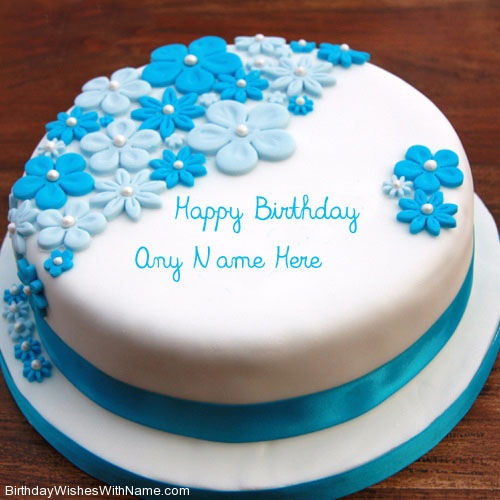 Birthday Wishes Card Vector With Cake