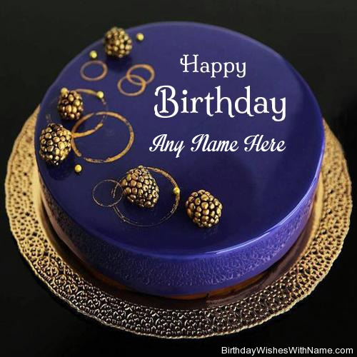 Birthday Royal Blue Designer Cake