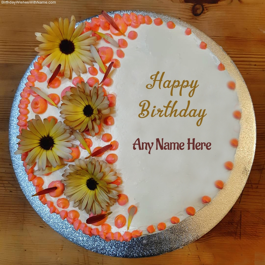 Birthday Wishes With Name On Cake