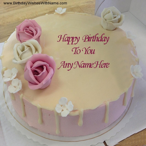 Happy Birthday To You Name Cake