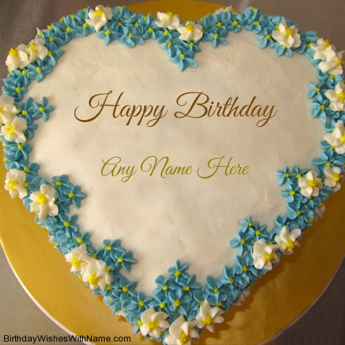 Heart Birthday Cake For Husband